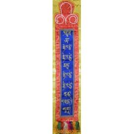 Selyem Gyógyító Buddha mantrás függőleges fali függő