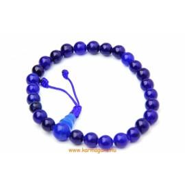 Kék onix csukló mala, állítható - a szerelmi titkok köve