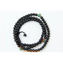 Fekete onix mala türkiz és korall  osztóval, állítható