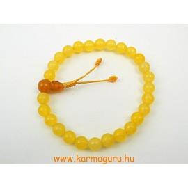 Sárga jade csuklómala gumis - a visszatérő siker és boldogság köve