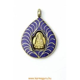 Buddha medál lapis bodhi fa levélen