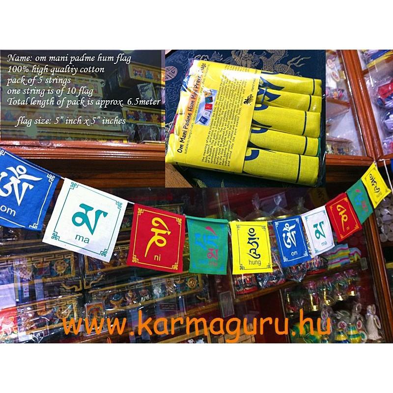 Beltéri imazászló csomag Om Mani Padme Hum