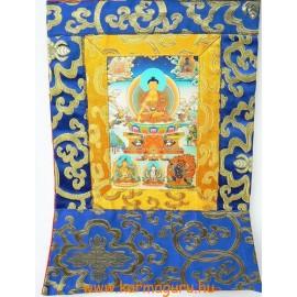 Shakyamuni Buddha thanka jellegű falikép