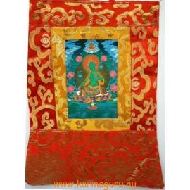 Zöld Tara thanka jellegű falikép