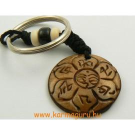 Kulcstartó Om Mani és Buddha szem kerek