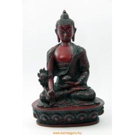 Gyógyító Buddha szobor rezin vörös színű