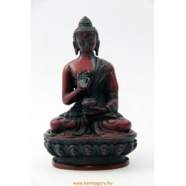 Áldó Buddha vörös  színű rezin szobor