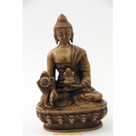 Gyógyító Buddha szobor rezin csont színű
