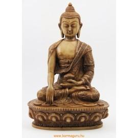 Buddha Shakyamuni csont színű rezin szobor