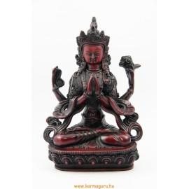Csenrézi szobor rezin vörös színű