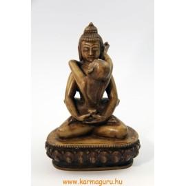 Buddha és Shakti szobor resin csont színű