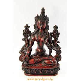 Fehér Tara szobor vörös színű