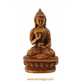 Áldó Buddha szobor rezin csont színű