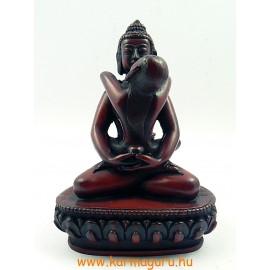 Buddha és Shakti szobor resin vörös