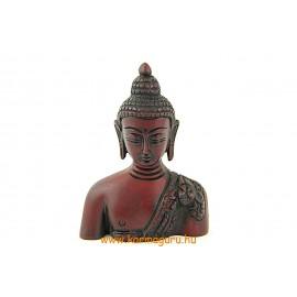 Buddha mellplasztika vörös színű