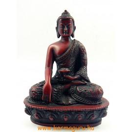 Buddha Shakyamuni szobor resin vörös