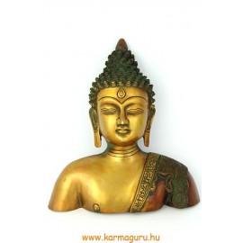 Buddha mell maszk rézből, bronz színű