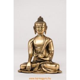 Shakyamuni Buddha szobor réz, alj nélkül, matt sárga -16 cm