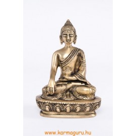 Shakyamuni Buddha réz, matt sárga színű - 14 cm