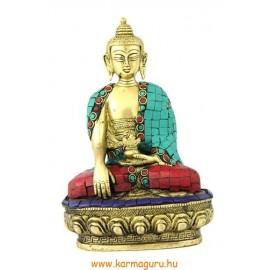 Shakyamuni Buddha szobor réz, kővel berakott